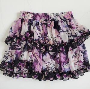 MISA Los Angeles Printed Mini Skirt